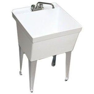 SWAN MF-1W LAUNDRY TRAY WALL (W/ FAUCET HOLES DRILLED) (WHEN OUT NO LONGER AVAILBLE)