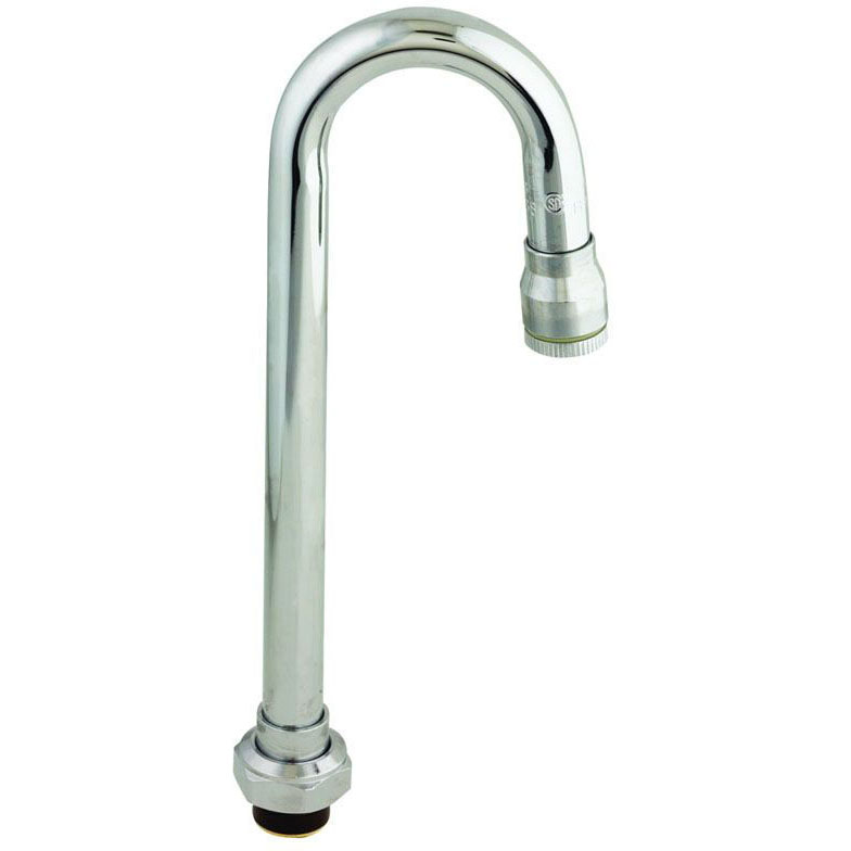 T&S BRASS 132X SWIVEL GOOSENECK SPOUT 9 1/16