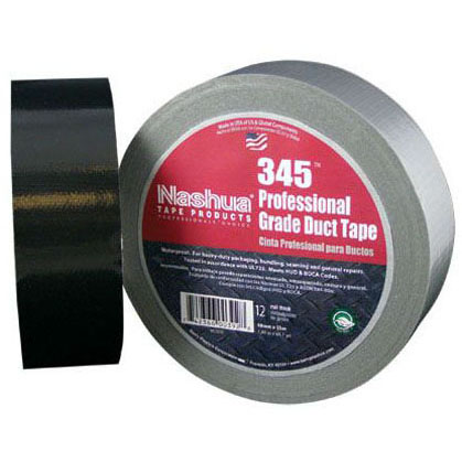 NASHUA 345 2X60YD PROFESSIONAL GRADE DUCT TAPE, 12MIL, SILVER (1556)