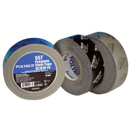 NASHUA POLYKEN 557 2-1/2 PREMIUM DUCT TAPE,14MIL, SILVER (UL181B-FX)