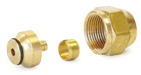 """WIRSBO A4020500 1/2"""" QS-STYLE FITTING ASSEMBLY R20 THREAD"""