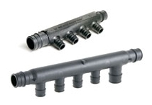WIRSBO Q2227557 3/4X3/4 EP 2-OUTLET FLOW-THROUGH MANIFOLD, PROPEX (ENGINEERED POLYMER)
