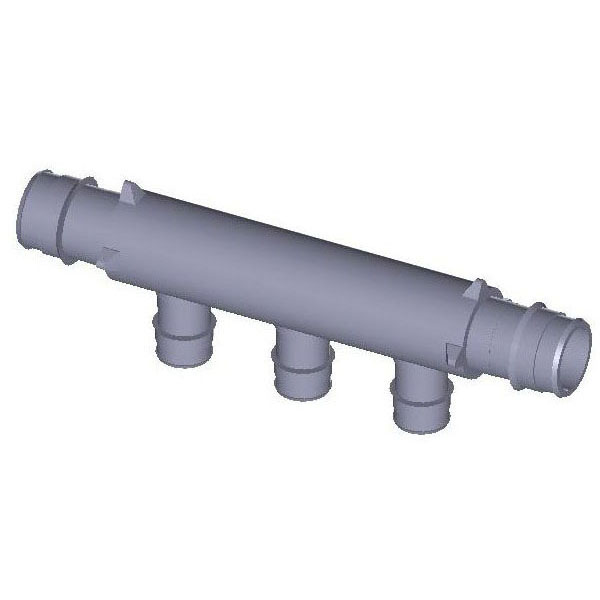 WIRSBO Q2237557 3/4X3/4 EP 3-OUTLET FLOW-THROUGH MANIFOLD, PROPEX (ENGINEERED POLYMER) MC247500