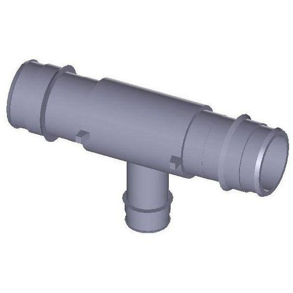 WIRSBO Q4751337 1-1/4X3/4 EP REDUCING TEE PROFLEX, PEX (ENGINEERED POLYMER) MC260903