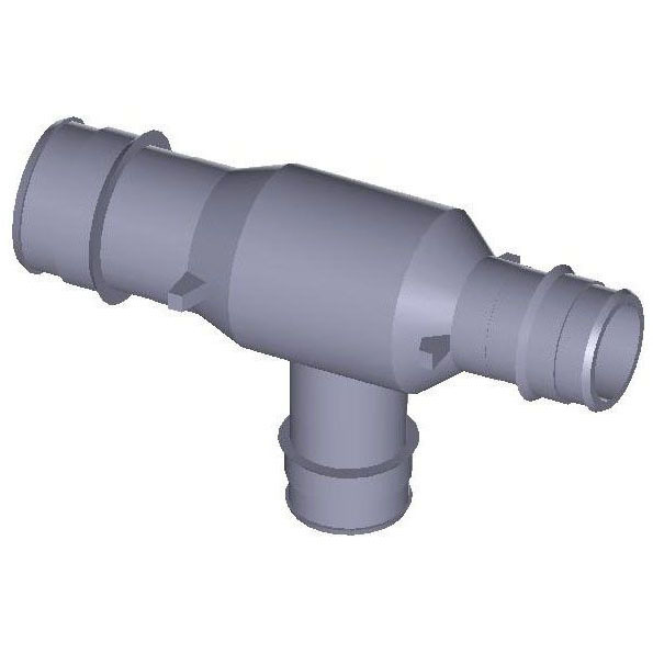 WIRSBO Q4751775 1X3/4X3/4 EP REDUCING TEE PROFLEX, PEX (ENGINEERED POLYMER) MC247533
