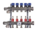 VIEGA PRORADIANT 16031 3 OUTLET SS MANIFOLD - FLOW METERS/ SHUT OFF/ BALANCING (REPLACES 15901)