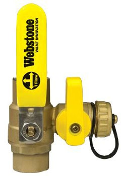 "WEBSTONE 50613 3/4"" SWT BALL VALVE WITH DRAIN"