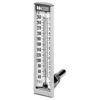 WEISS HW5A2 VARI-ANGLE 1/2 STRAIGHT HOT WATER THERMOMETER (STEEL) MAX 260PSI 40-260 TEMP RANGE MC7105