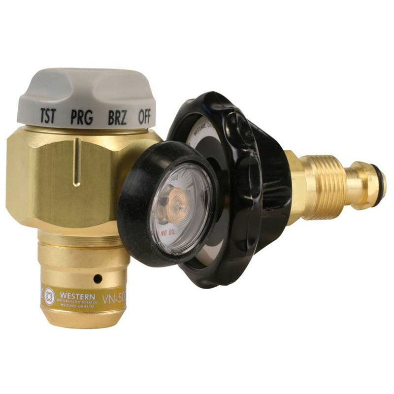 WESTERN ENTERPRISES VN-250 NITROGEN PURGING/TESTING REGULATOR W/250PSI TEST PRESSURE