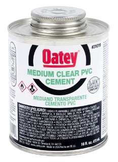 Oatey 31019 16Oz Can Clear Medium Solvent Cement