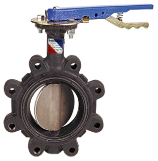 "NIBCO Fig NLG100H 4"" 200Psi Ductile Iron Extended Neck Lug Type Butterfly Valve"