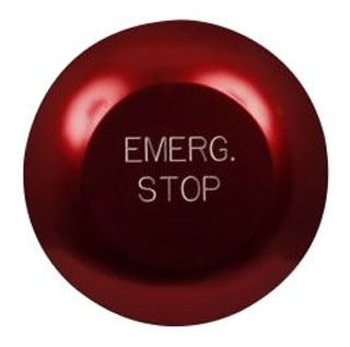 10250T33-POP PUSHBUTTON OPERATOR 30.5 MM NON-ILLUMINATED MOMENTARY CONTACT BEZEL/HOUSING METAL/CHROME OPERATING CAP-JUMBO MUSHROOM COLOR RED NEMA 4X 1-NO 1-NC CONTACTS 10 AMPS@ 600 VOLTS 5 AMPS@ 250 ENGRAVED LEGEND PLATES EMERGENCY STOP QTY 1