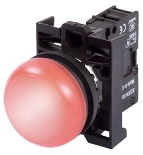 M22-L-R-230R-P RED INDICATING LIGHT 85-264VAC LED LEGEND PLATES POP QTY 1
