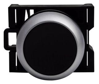 M22-D-S BLACK FLUSH MOMENTARY PUSHBUTTON 22MM QTY 1