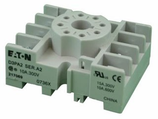 """D3PA2 RELAY SOCKET 8 PIN (PIN) FOR 2 POLE RELAYS OCTAL SOCKET DIN/SCREW MOUNTING 15 AMPS 300 VOLT RATING SCREW TERMINALS 1.60"""" WIDE X 2.02"""" LONG 0.83"""" DEEP 3TX7144-1E2 (SIEMENS) QTY 1"""