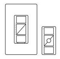 LUT P-PKG1W-WH IN-WALL LIGHT DIMMER W/PICO REMOTE KIT