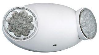 CU2 EMERGENCY LIGHT LED TWO SWIVEL HEADS 120/277 BATTERY BACK UP QTY 1/12