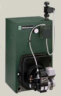 "Williamson OWB-4-T-S2-W_007 140Mbh 13.4Gallon 8"" X 8"" Vent Cast Iron Water Oil Fired Boiler"