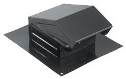 "7221343 636 ROOF CAP W/DAMPER 3"" OR 4"" RD BLACK"