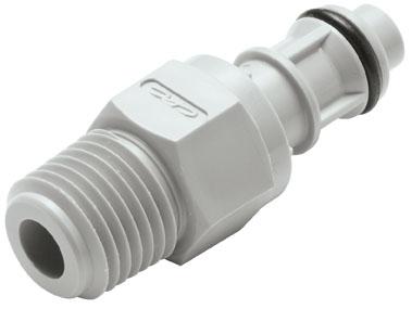 "EFCD24412 1/4"", MPT, 1.77"" L, 105 PSI, Molded Gray, Polypropylene, Shut-Off/Valved/In-Line, Coupling Insert"