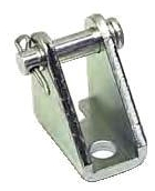 """CB-3295 1.75"""" x 1.875"""", Bright Zinc Plated, Steel, Cylinder Clevis Mounting Bracket"""