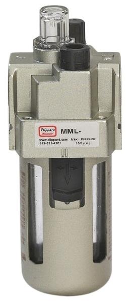 """MML-4Z 1/2"""" NPT, 180 SCFM, 150 PSI, Die Cast Aluminum, Standard, Lubricator"""