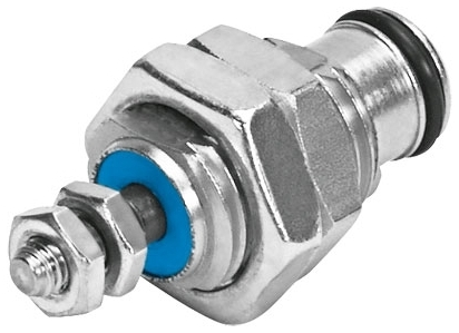 EGZ-10-5 5 MM, 1.5 to 8 Bar, Male Threaded Mount, Single Acting, Cartridge, Pneumatic Cylinder
