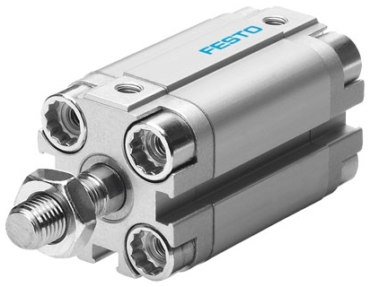 ADVU-20-50-A-P-A 50 MM, 1 to 10 Bar, Through Hole Mount, Double Acting, Compact, Pneumatic Cylinder