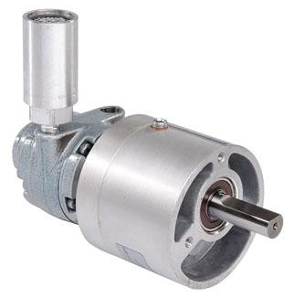1AM-NRV-56-GR11 0.34 HP, 350 RPM, 15:1, Bronze, Face Mount, Reversible Rotation, Air Powered Gear Motor