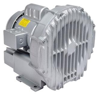 "R4310A-2 1-1/2"", 3-Phase, 208 to 230/460 VAC, 1.879 PSI, 3450 RPM, 1 HP, Aluminum, Centrifugal, Regenerative Blower"