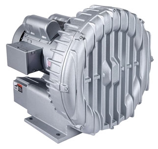 "R6335A-2 2"", 3-Phase, 208 to 230/460 VAC, 2.89 PSI, 3450 RPM, 2.5 5 HP, Aluminum, Centrifugal, Regenerative Blower"