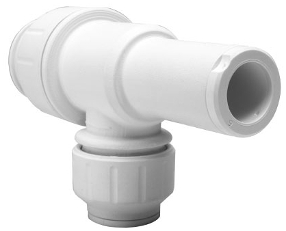 "PI-011222-S 3/8"" x 1/4"", MPT Tube, 150 PSI, Gray, Acetal Copolymer, Reducing, Adapter"