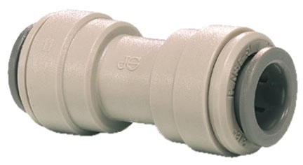 "PI-0408S 1/4"" x 1/4"", Tube Tube, Gray, Acetal Copolymer, Straight, Union Connector"