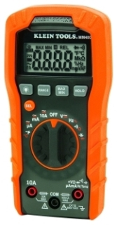 MM400 MM200 (OLD#) AUTO RANGING MULTIMETER MEASURES C AC/DC VOLTAGE AC/DC CURRENT AND RESISTANCE QTY 1