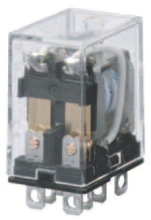 LY2N-AC110/120 110/120 VAC, Plug-In, AC Operated, 2-Pole, General Purpose Relay