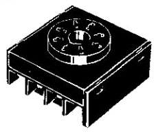 P3G-08 + 45 MM x 21.9 MM, Round, 8-Pin, Screw, Back Mounting, Solid-State Timer Socket