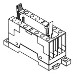 P7SA-14F-ND DC24 + 30 MM x 60.5 72 MM, 24 VDC, 6-Pole, Screw, Front Mount, Relay Socket