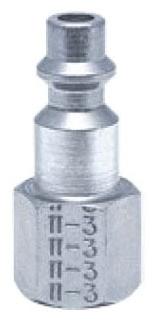 "11-3S/S 1/4"", Plug x FPT, 303 Stainless Steel, 1-Way, Shut-Off Valve"