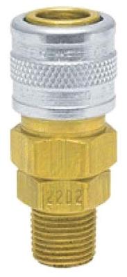 "2202 1/8"", Socket x MPT, Brass/Steel, 1-Way, Shut-Off Valve"