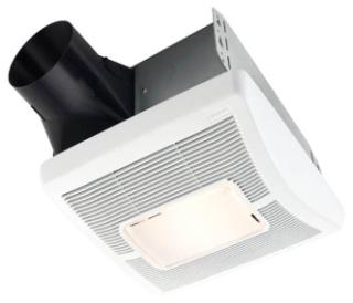 BROAN AE80L BATH FAN/LIGHT LED 80CFM 0.8 SONES ENERGY STAR RATED