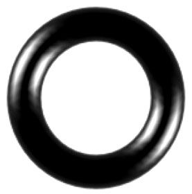 "3-924N70 1-1/2"" x 1.72"", Durometer 70 (Shore A), Black Nitrile (NBR), O-Ring"