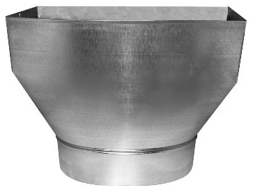 5400520 127R2126  2-1/4X12X6 STR BOOT TO OVAL