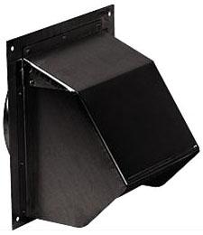 7221391 843BL 6in BLACK WALL CAP