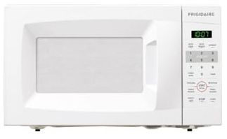 <D> FRIGIDAIRE FFCM0724LW MICROWAVE 17 .7CF COUNTERTOP SIDE CONTROL-PUSH BUTTON-700W-9 5/8 TURNTABLE WHITE