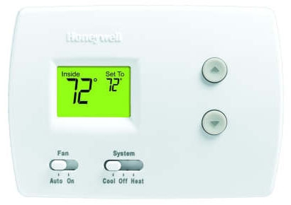 HONTH3110D1008 24v/millivolt Digital Non Programmable Single Stage Dual Powered Horizontal Mount Thermostat 1H-1C 40-90F