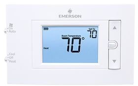 "W-R1F83C-11NP 80 Series Clear Choice 24v/millivolt 2 Wire 4.5"" Display Digital Single Stage Non Programmable Thermostat For Conventional Systems With Keypad Lockout & Temp Limits 1h-1c 45-90f Replaces 1f86-0471"