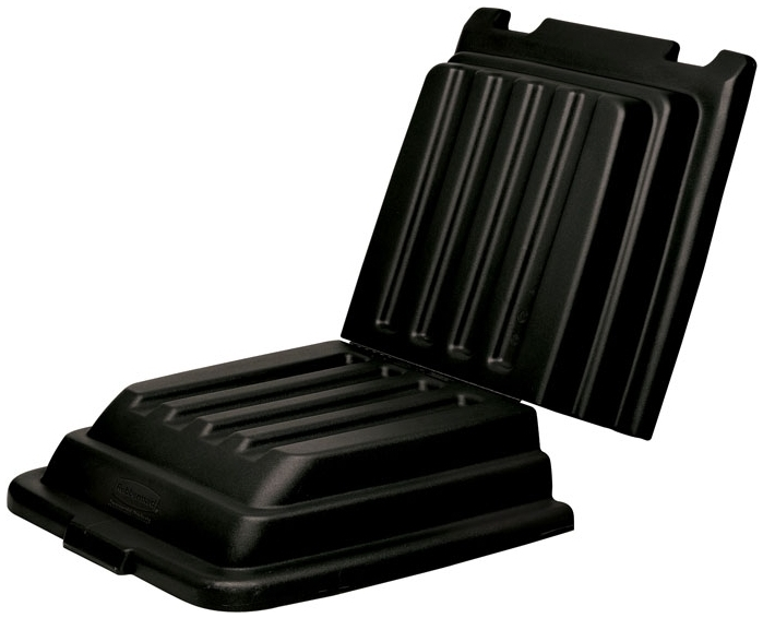 RUBBERMAID FG9T2200BLA BLACK DOMED HINGED LID FOR FG9T13 & FG9T14 1/2 CU. YD. TILT TRUCKS [9T22-00BLA]