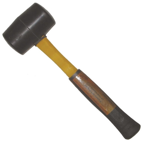 VALLEY-TOOLS HMFRM-16 RUBBER MALLET 16 OZ. WITH FIBERGLASS HANDLE