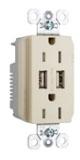 PASS TR-5262USBI DUP REC 15A TR SPEC W/3.1A USB CHRG I