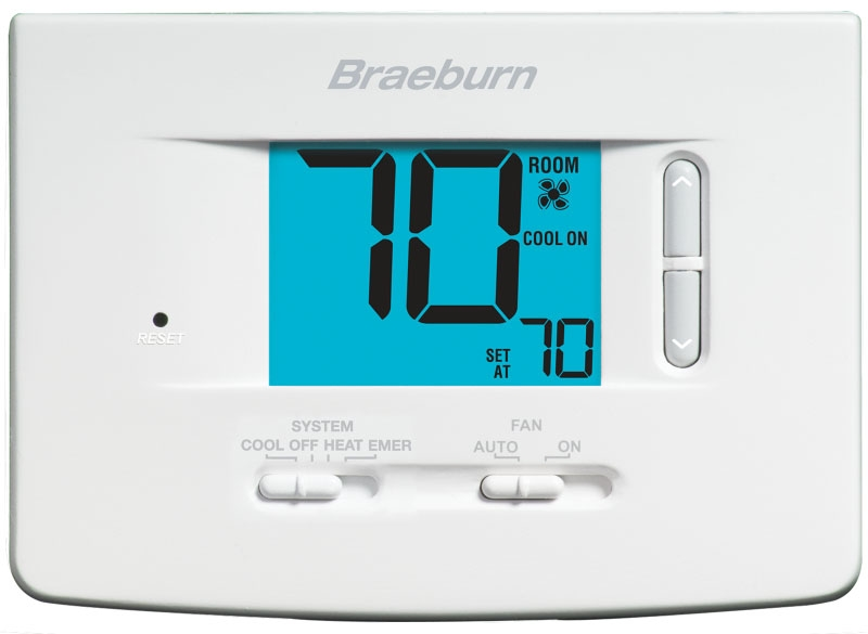 BRA1020 24v Digital Single Stage Economy Non-programmable Battery Powered/hard Wired Thermostat With Temperature Limits 1h-1c 45-90f Replaces 1000 And 1010